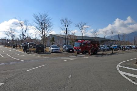 消防車も待機