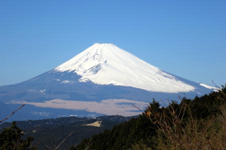 レストハウス駐車場付近からの富士山