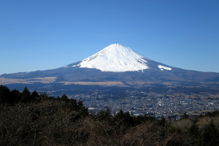 ふじみ茶屋前からの富士山
