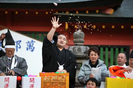 富士山本宮浅間大社の豆撒式