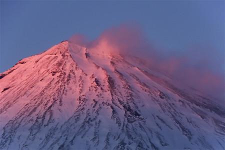 2月9日夕方の富士山