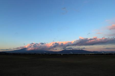 雲まみれの富士山