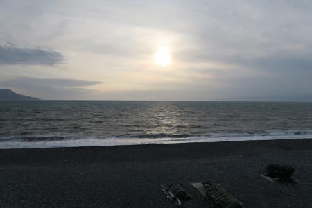 千本浜の夕陽