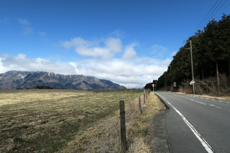 牧草地の道路