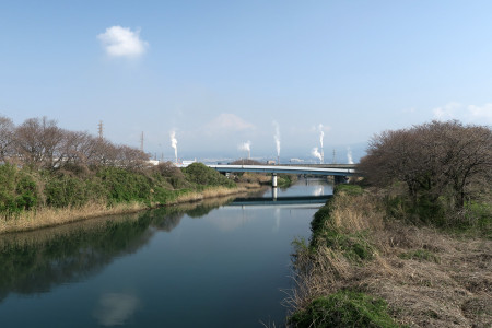 富士山は霞む