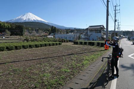 富士山を愛でながら