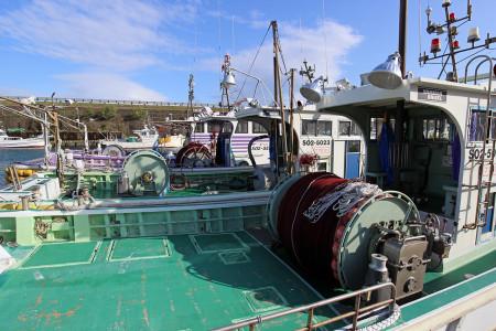 桜えび漁船