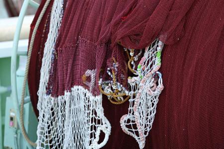 桜えび漁の網
