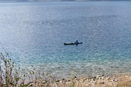 本栖湖のカヤック