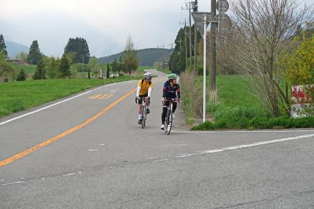 農道から県道71号へ