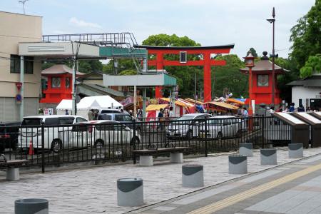 流鏑馬祭が開催されている浅間大社