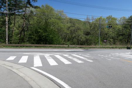 国道139号との合流地点