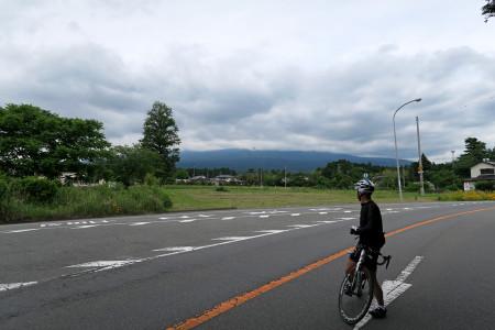 富士山を振り返る