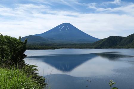 本栖湖畔の逆さ富士