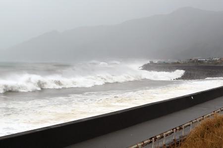 7月16日朝の駿河湾由比付近