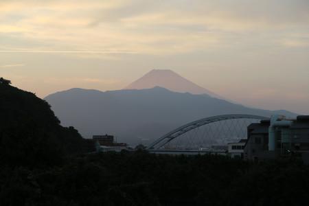 7月26日の夕暮れ富士山