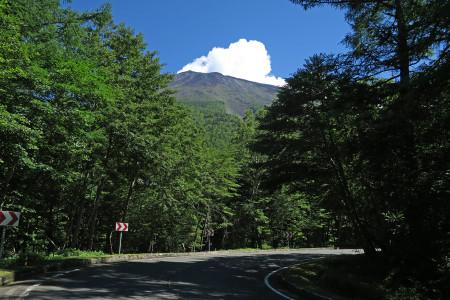 登山区間からの富士山