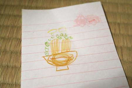 息子の描いた蕎麦