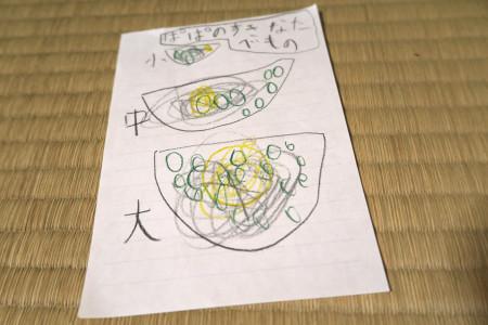 娘の描いた蕎麦