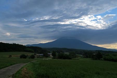 ダイヤモンド富士近辺からの富士山