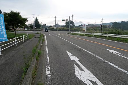 富士ヶ嶺手前で雨
