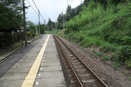 石神前駅ホーム