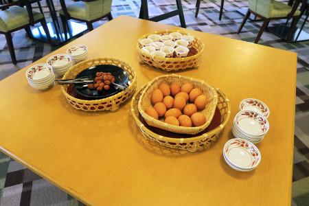 セルフサービスの卵や納豆