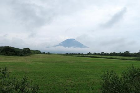 農道から見えた富士山