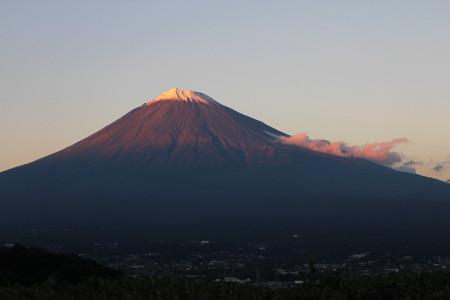 赤富士から紅富士へ