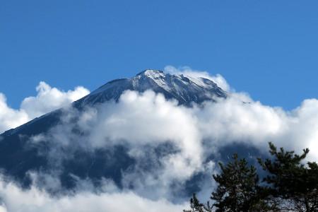 富士山頂が見えた!