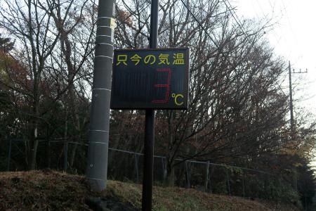 十里木は3℃
