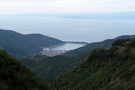 戸田峠手前からの絶景