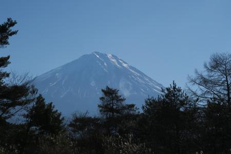 光る富士山
