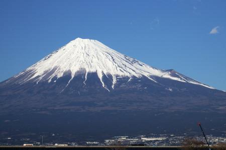 2015年1月12日富士川からの富士山