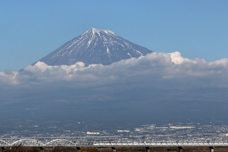 2016年1月13日富士川からの富士山
