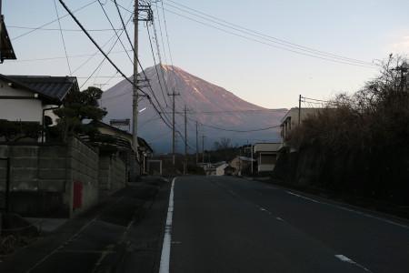 富士山が染まる