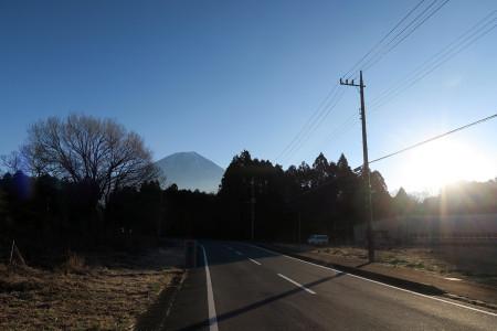 陽光と富士山