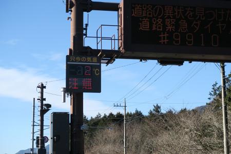 静岡県に入ると5℃