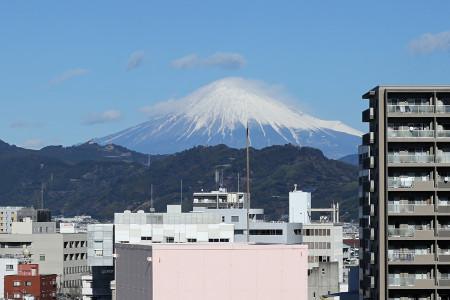 1月20日冠雪の富士山