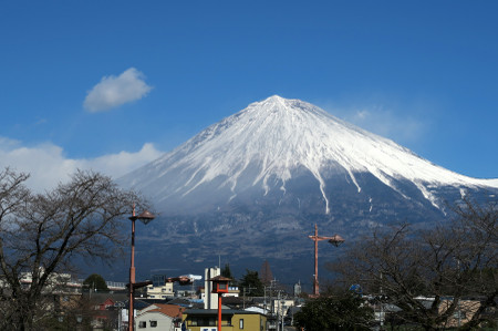 1月24日昼頃の富士山