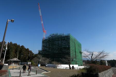 工事中の大石寺