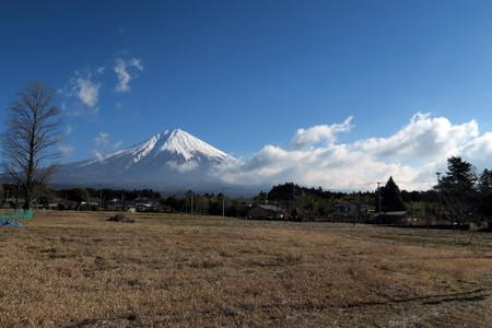 上井出からの富士山と雲