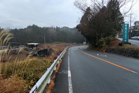 松野への下り