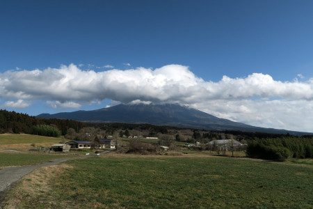 人穴からの富士山