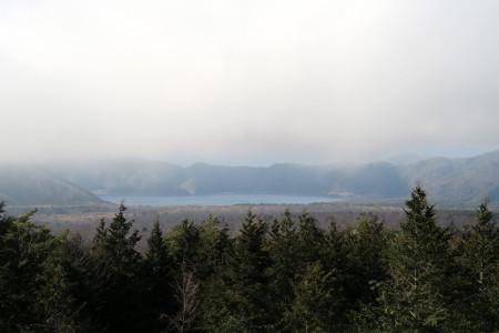 大室山西展望台からの光景