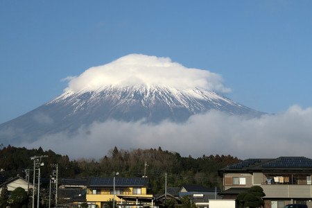 富士山の雪は減って