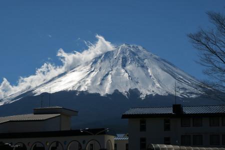 富士緑の休暇村前からの富士山