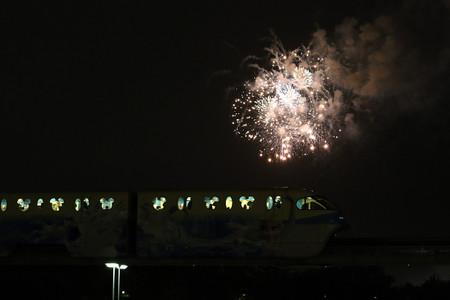 ディズニーランドの花火