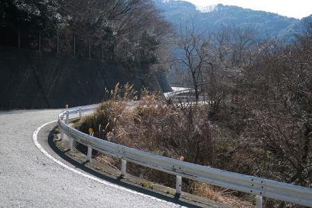 戸田峠への道