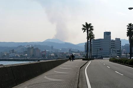 大室山の野焼き